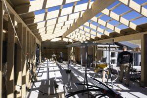 Byggefirmaet Keld og Johs- Rejsegilde på tilbygning