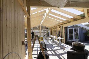 Byggefirmaet Keld og Johs- Rejsegilde på tilbygning.